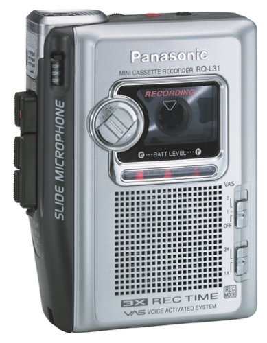 Panasonic RQ-L31 Portable Cassette Recorder with Slide Microphone by Panasonic