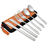 Anbers 6-Piece Travel/Camping Flatware Set - Knife Fork Spoon