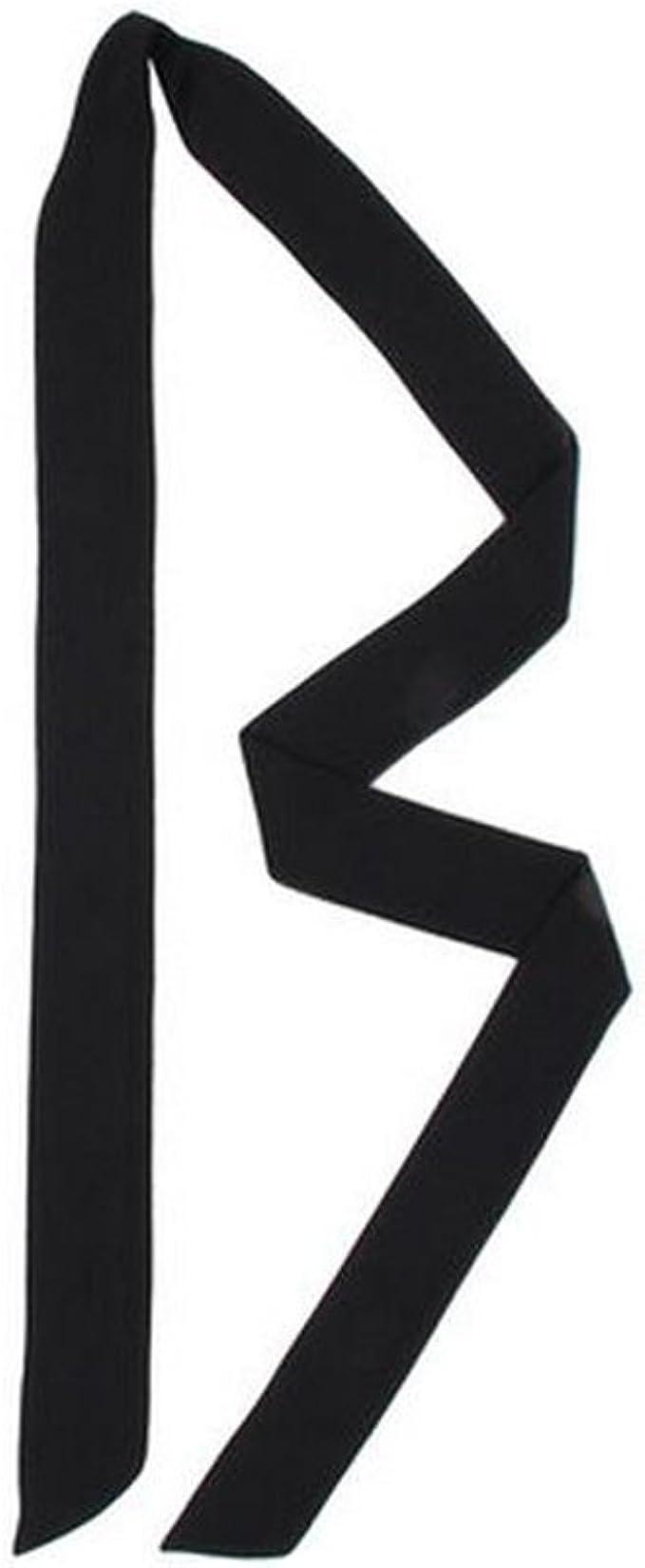 A History of Belts 1920-1960 Fashionable Silk Scarves Summer All-Match Belt Neckerchief(Black) $7.99 AT vintagedancer.com