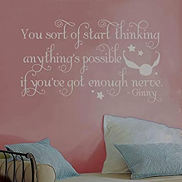 harry potter ginny quidditch snitch quote vinyl wall decal
