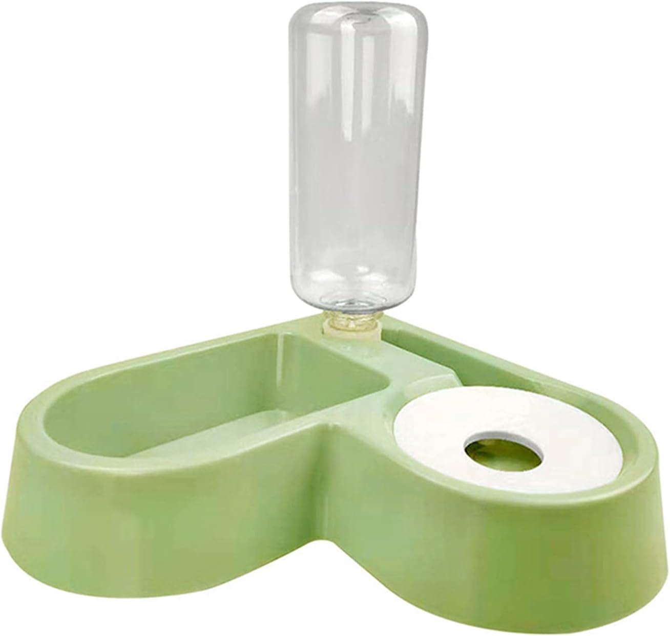 2 in 1 Dog Food and Water Bowl Set Heart Shape Wall Corner Pet Automatic Water Dispenser Detachable Feeder Bowl 55ml-Jiangshen