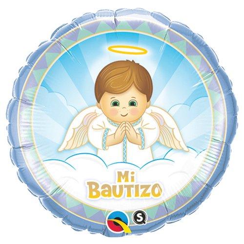Qualatex Foil Balloon 41385-Q-P Mi Bautizo Angel - Boy, 18