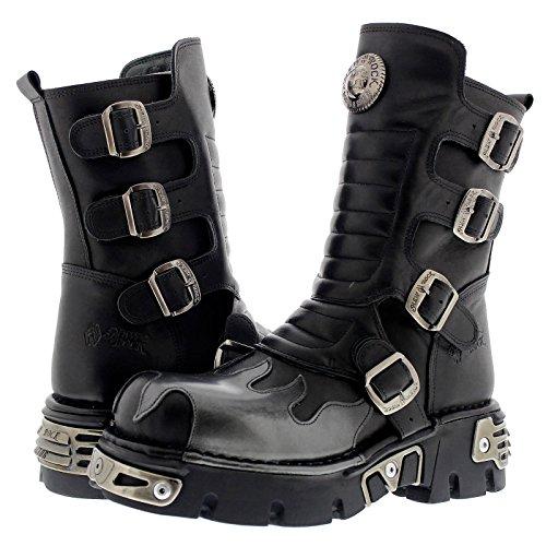 New Rock Boots S2 M Womens Leather Black 591X rrHAqaxwZ