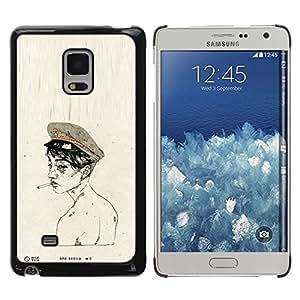 Exotic-Star ( Soldier Army Smoke Naked ) Fundas Cover Cubre Hard Case Cover para Samsung Galaxy Mega 5.8 / i9150 / i9152