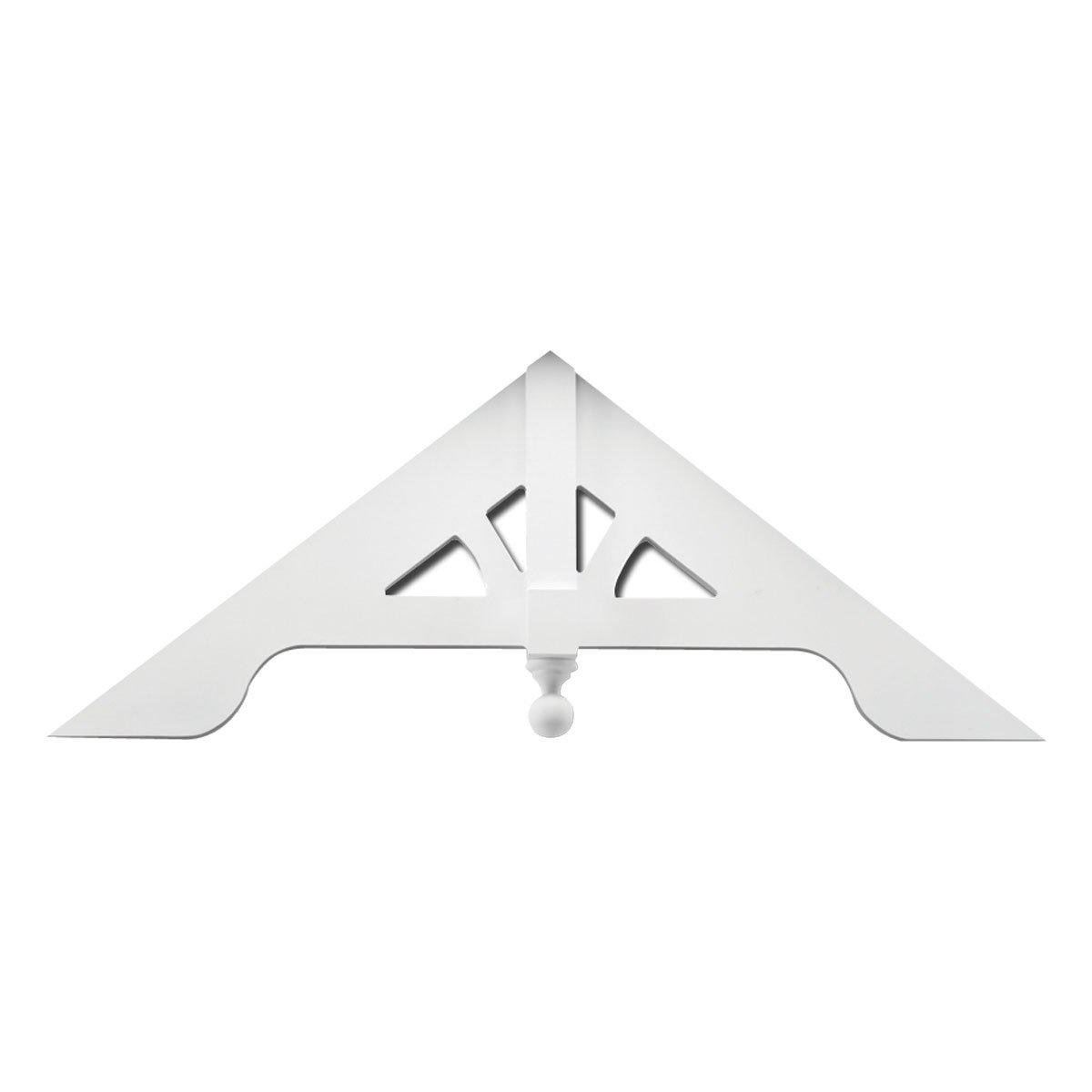 Fypon GPA87X29 87 1/4''W x 29''H x 2 3/4''P x 8/12 Pitch Gable Pediment with Arches