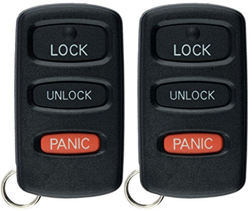 KeylessOption Keyless Entry Remote Car Key Fob Replacement for Montero E4EG8D-522M-A (Pack of 2)