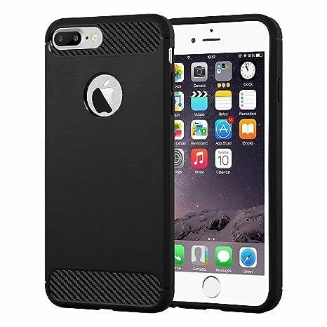 Carbon Funda iPhone 7 Plus / 8 Plus Carcasa TPU Gel Silicona ...