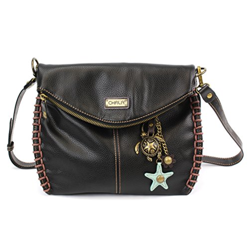 Black with Chala XBody Colors Shoulder Purse Starfish Charm Bronze Teal Sea Turtle Handbags 9 ZZwOTfa