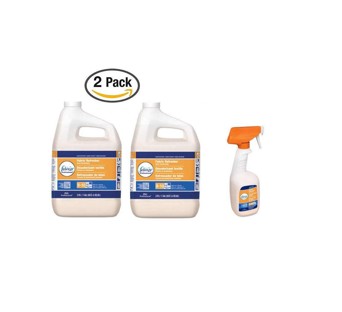 Professional Fabric Refresher Deep Penetrating, 5X Concentrate, 1gal 2pack + Deep Penetrating Fabric Refresher Refill 1pcs (Case of 3)
