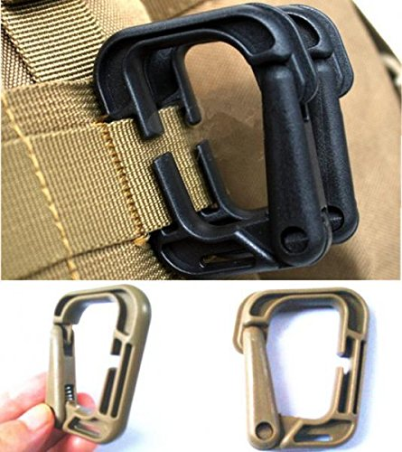 Grimloc D-Ring Carabiner Multi-use Safety Buckle For Backpack Clasp Keychain Bag