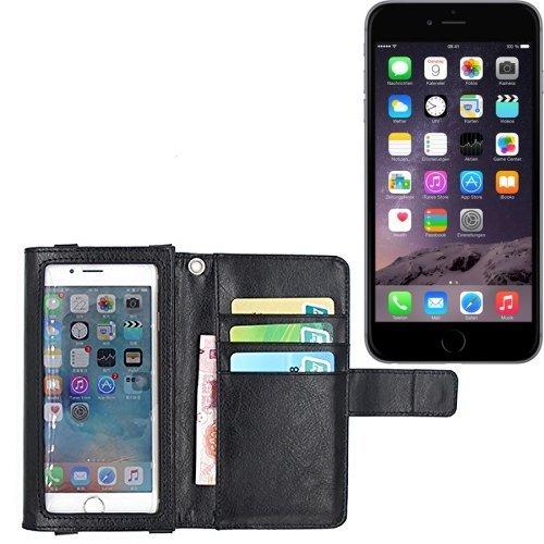 Schutz Hülle Case für Apple iPhone 6 Plus mit Displayschutz / Schutzfolie, schwarz, Flip Cover Wallet case Etui Hülle (Wir zahlen Steuern in Deutschland!)