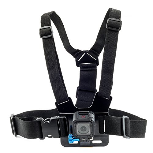 Chest Strap For GoPro HERO FUSION Session Akaso EK7000 Brave 5 4 Apeman EKEN H9R Fitfort Crosstour Campark ACT74 ACT76 Davola Dragon Touch Jeemak YI 4K Action Camera Harness Mount Adjustable
