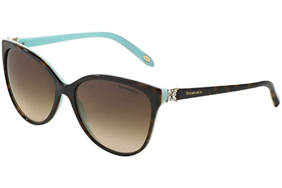 7395af25fc4b Image Unavailable. Image not available for. Colour  Tiffany   Co Women s  Gradient TF4089B-81343B-58 Tortoiseshell Butterfly Sunglasses