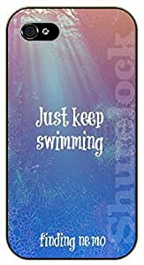 iPhone 6 Just keep swimming - black plastic case / Walt Disney And Life Quotes, Sea, nemo, finding
