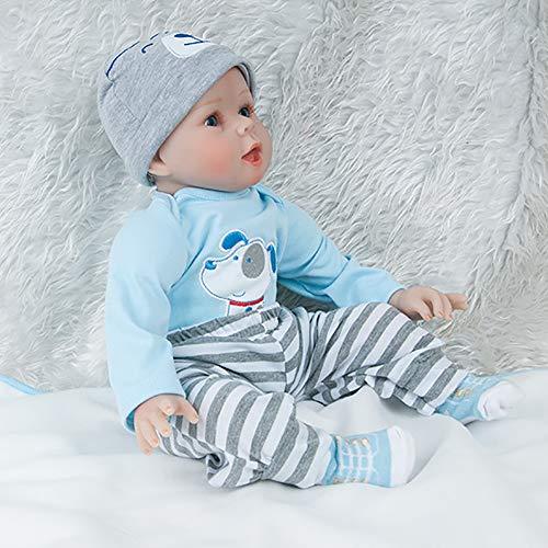 AFYH Simulation Doll Reborn Baby,Simulation Children's Doll - Rebirth Doll - Realistic Baby Companion - Colección de arte 55cm - Dé a su hijo un precioso Regalo. by AFYH (Image #1)