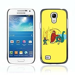 A-type Arte & diseño plástico duro Fundas Cover Cubre Hard Case Cover para Samsung Galaxy S4 MINI / i9190 / i9192 ( Divertido Loch Ness Monster )