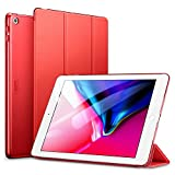 ESR Yippee Trifold Smart Case for iPad 9.7 2018/2017, Lightweight Smart Cover with Auto Sleep/Wake, Microfiber Lining, Hard Back Cover for iPad 9.7 iPad 5th / 6th Generation, Red
