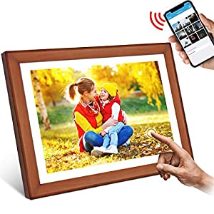 WiFi Digital Photo Frame, YENOCK 10.1″ Touch Screen 1280 * 800 Built in 16GB Memory Portrait&Landscape Instantly Photo & Video Sharing Via App/Facebook/Twitter/E-mail