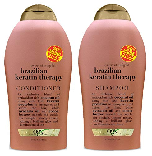 Ogx Brazilian Keratin Therapy Shampoo & Conditioner Duo 19.5 Ounce