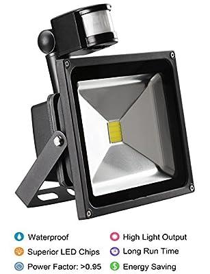 Led Sensor Flood Light Motion Lamp Outdoor, Motion Sensor Led Bulbs