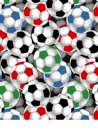 Soccer Balls Fleece Throw Blanket with Finished Edges Sports