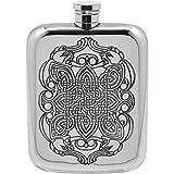 English Pewter Company 6oz Celtic Liquor Hip Flask [CEL126]