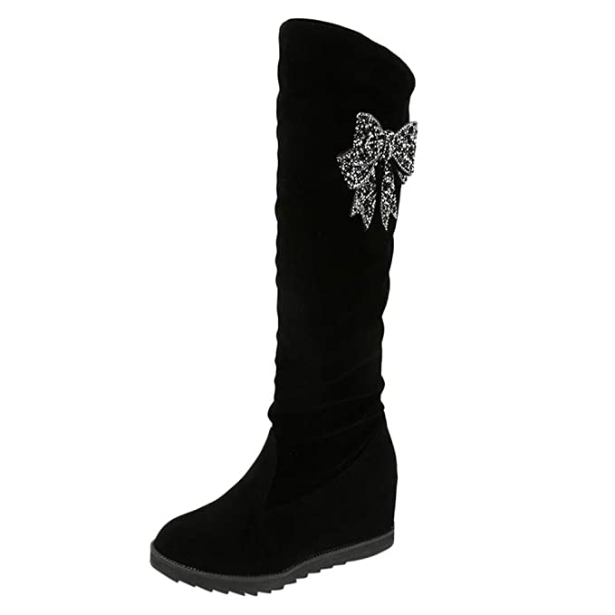 RYTEJFES Stiefeletten Damen Knielang Kurzschaft Stiefel