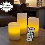 Flameless Candles Set of 3 Flickering LED Candles