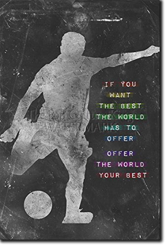 Football / Soccer Motivational Poster 04 ''If you want the best the world has to offer...'' Photo Art Print Motivation Quote - Size: 36 x 24 Inches (HUGE) - 91 x 60 cm by Introspective Chameleon