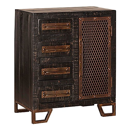 - Hillsdale Furniture Bridgewater Accent Cabinet - Rubbed Black Rubbed Black/Metal