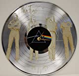 #2: Pink Floyd Laser Etched Platinum Plated LP Record Wall Clock