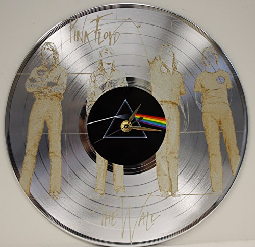 Pink Floyd Laser Etched Platinum Plated LP Record Wall Clock