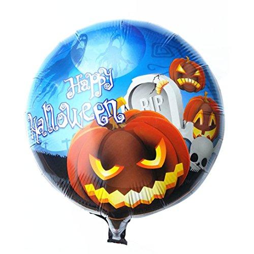 LOVELYIVA NEW 1pc Halloween Balloons pumpkin head Decorative Foil Balloons (Skeleton Hoodie Teen Costume)