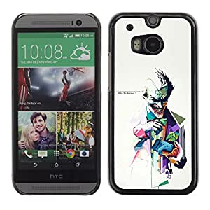 Impact Case Cover with Art Pattern Designs FOR HTC One M8 WHY SO SERIOUS ? JOKER Betty shop