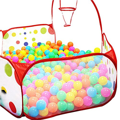 [Ball Play Pool Tent Carry Tote Toy Stress Balls Beach 1.2m +50 Perfect Portability & Design. Playtime Is A Pleasure In This Hexagon Polka Dot Children's] (Puff The Green Dragon Dress)