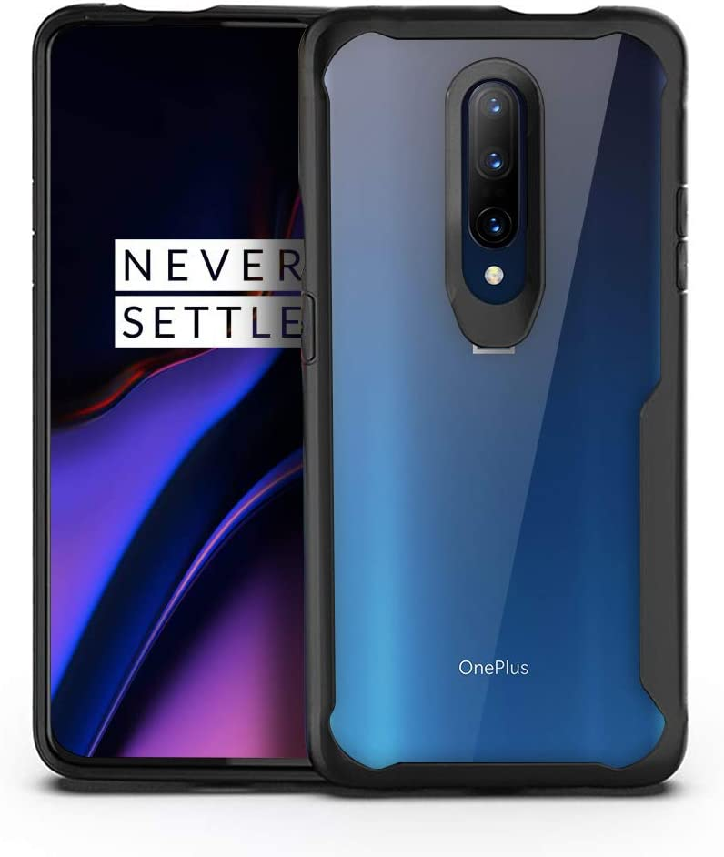 Amazon Com Olixar For Oneplus 7 Pro Bumper Case Shockproof Transparent Bumper Cover Hard Slim Frame With Drop Protection Anti Scratch Clear Back Novashield Black Electronics