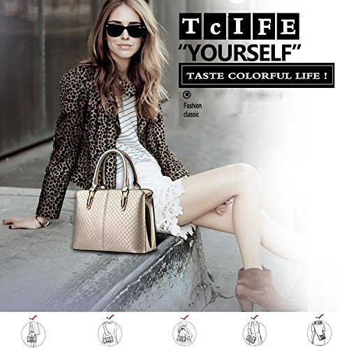 Tcife Satchel Bags Tote Black For Handbags Women Shoulder And Purses 11qrdWwP