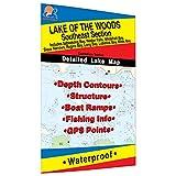 Lake of the Woods-SE Fishing Map, Lake (incl. Sioux Narrows/Nestor Falls)