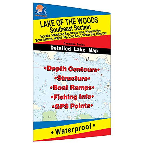 Lake of the Woods-SE Fishing Map, Lake (incl. Sioux Narrows/Nestor Falls) by Fishing Hot Spots