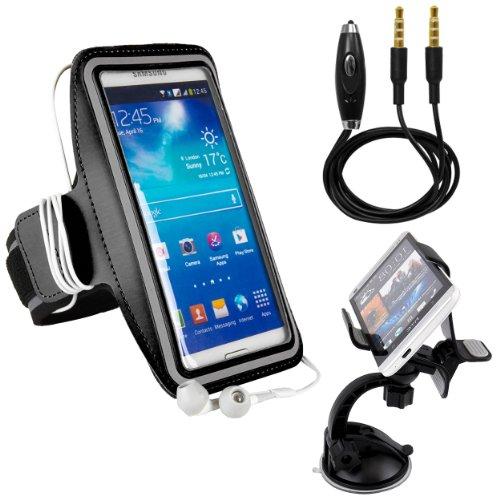 Silver Streaks Basketball (Alcatel Pop 4/Fierce/Shine/Tru/Cinch/Streak/Pixi/X1/Flash/Idol Premium Water Resistant Sports Armband with Key Holder (10-18