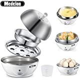 Medelon Rapid Electric Egg Cooker with Automatic Shut Off,Egg Boiler,Egg Poacher,Egg Steamer Stainless Steel Tray 7 Eggs Capacity for Soft or Hard Boiled Eggs