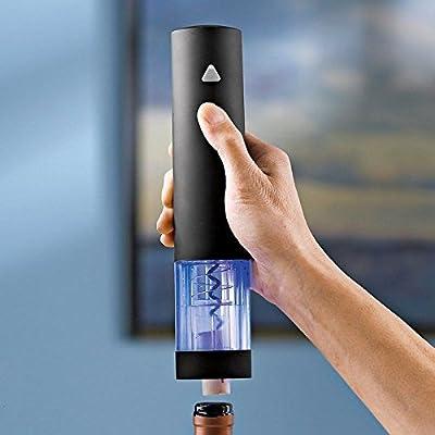 Wine Enthusiast Electric Blue Push-Button Corkscrew