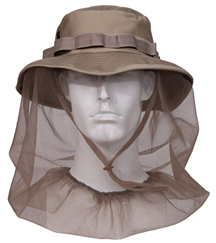 Rothco Boonie Hat with Mosquito Netting, Khaki, Size 7 3/4