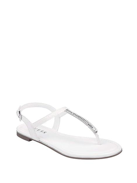 8e5a100c5a028 Amazon.com | GUESS Factory Daysee Rhinestone T-Strap Sandals | Sandals