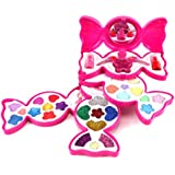 Fashion Girl Candy Mirror Case Pretend Play Toy Make Up Case Kit, Safety Tested, Non-Toxic, Washable, Formulated for Children