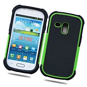 Fabcov Packing Green Anti-slip Tough Rubber Hard Cover Case for Samsung Galaxy S3 Mini i8190