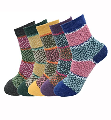 Womens Winter Warm Boots Socks For Womans Cotton Crew Cozy Comfy Wool Socks For Women