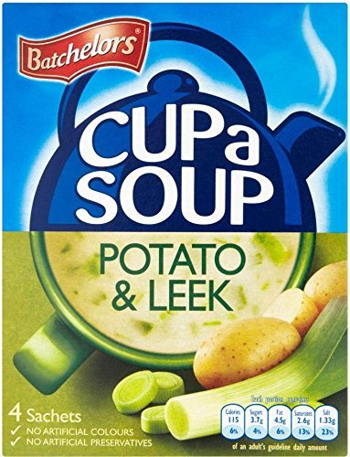 Batchelors Cup a Soup Creamy Leek & Potato (4 per pack - 107g) - Pack of 6 (Best Potato Leek Soup)