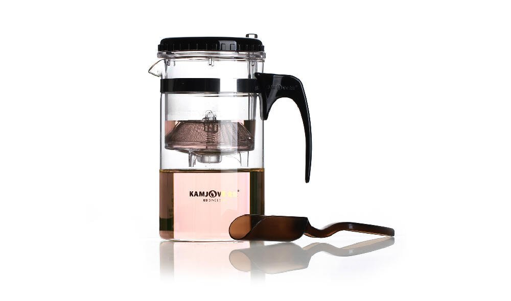 Over Cup Infuser with Glass Teapot - Perfect Tea Brewing System for Loose Leaf Teas (11.84oz/350ml-A01) Yeme COMINHKPR70254