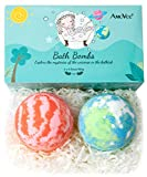 AmoVee Bath Bombs, Bath Bomb Gift Set Large Size 3.5oz with Natural Essential Oils, Shea Butter, Sea Salt, SPA Bubble Fizzies for Kids, Women, Mom, Girlfriend